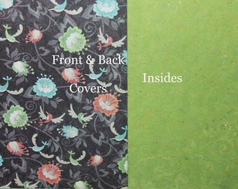 Custom Planner Cover, Happy planner cover, ARC cover, Discbound:Spring, flowers, green, black
