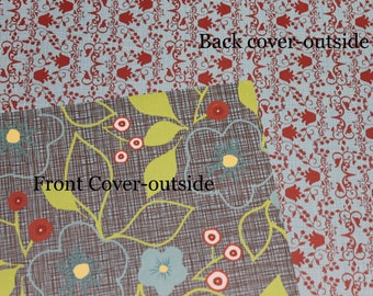 Floral Planner Cover Custom, Happy planner cover, ARC cover, Discbound, Any size, custom planner cover-floral cover