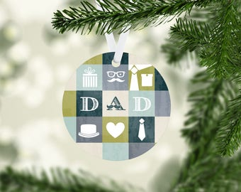 Dad Grid Ornament