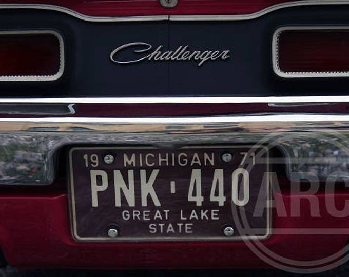 "Classic Car Print ""Think Pink-440"""