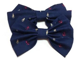 nautical wedding bow tie dog ring bearer large dog smart dog wedding dog maritime navy pet's bow tie cat bowtie cat ringbearer cat wedding