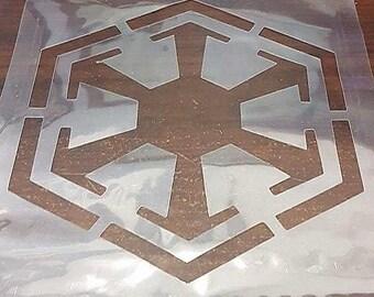 Large Star Wars Sith Empire Logo Stencil handcut