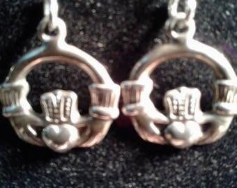 Sterling Silver Claddagh dangle earrings #13