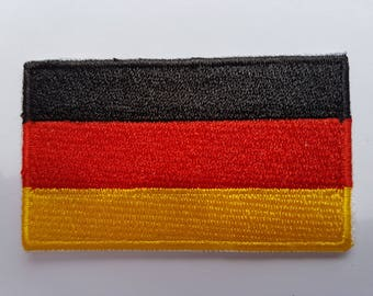 The German flag Brand new iron on Sew on Patch Embroidered transfer