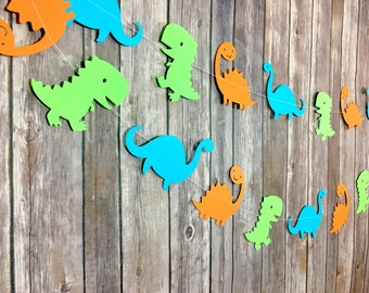 Dinosaurs Garland, Dinosaur Party, First Birthday, Baby Shower, Photo Prop