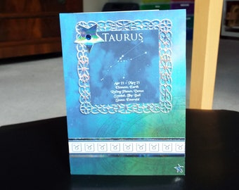 Taurus Horoscope Birthday Card - Zodiac/Star Sign -luxury personalised unique quality special astrological UK