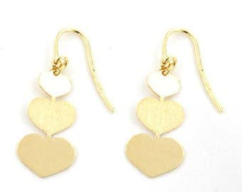 Heart 925S Earring (gold)#1101786