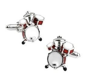 Drum Kit Cuff Link