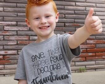 Thumb War, 1,2,3,4, funny toddler shirt, toddler shirt, monochrome, trendy kid shirt, kid shirt, funny shirt, funny kid tee