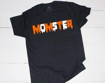 MOMSTER, Momster Tee, Momster Halloween Tee, Halloween Shirt, Ladies Shirt