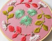 Embroidered Wall Art, Fibre Arts, Hanging Wall Art, Embroidery, Embroidery Art, Boho Wall Art, Boho Decor