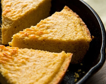 Cast Iron Cornbread- Vegan, Vegetarian, Gluten Free, Sugar Free, Paleo, Clean Eating, Thanksgiving, Christmas, Holiday Entertaining