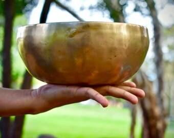 """8"""" Singing bowl- Hand made, hand hammered, Tibetan-Nepalese."""