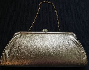 Glamorous Gold 1960's Clutch