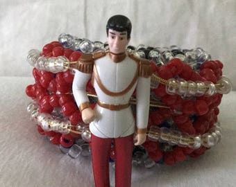 XL Cinderella Prince toy kandi cage cuff