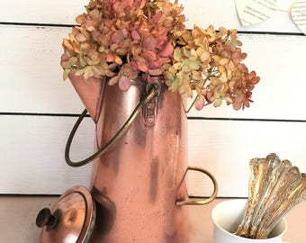 Vintage Copper Tea or Coffee Kettle