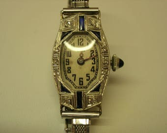 Ladies Vintage Cyma Plat/18kwg Watch