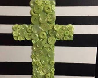 Button art cross