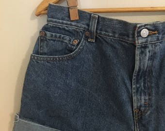 Levi's shorts with rolled cuff