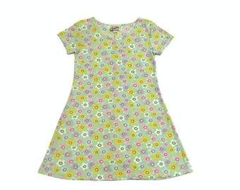 90s Rare Flower Babydoll Dress