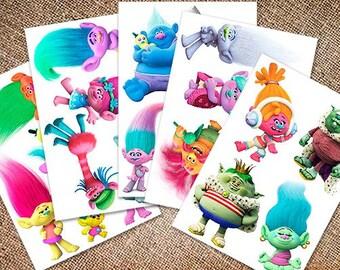 Printed sheets. Korean Felt. Eco-polyester 100%. Trolls.