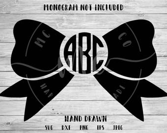 Monogram Bow SVG, Initial svg, Bow Monogram, Monogram SVG, BOW Svg, Commercial Use, Cricut, Silhouette, Cut File, dxf, png, eps, jpeg