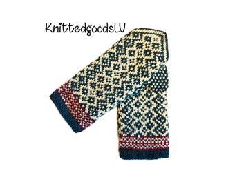 Handmade Latvian mittens , knitted , mittens , wool mittens , warm mittens , latvian mittens , latvia mittens , knit latvian mittens