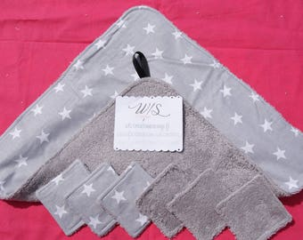 Lot wipe hands and square / Terry cloth wipes