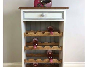 Hand Painted Pine Wine Rack