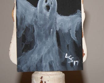 Hallowe'en Ghost – Acrylic – An ACEO Original