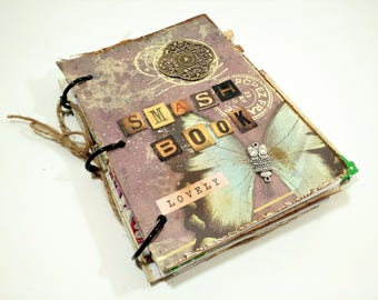 Custom Scrapbook, Junk Journal, Smashbook, Premade Scrapbook, Smash book, Memory Book, Travel Album, Personalized Album, Travel Gift