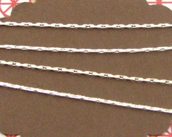 1m snake-like 0,8mm chain silver coloured, chain for bracelets and necklaces, chain for beads, CHA02