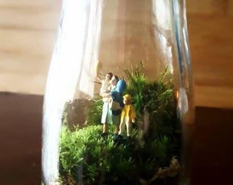 Live Moss》 Mini Terrarium》Little to No Care Needed》Mom & Kids