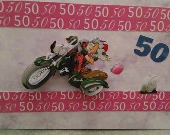 """Grandma's gorgeous"" birthday 3D card"