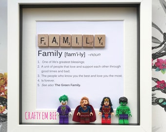 Personalised Family Lego Scrabble Frame