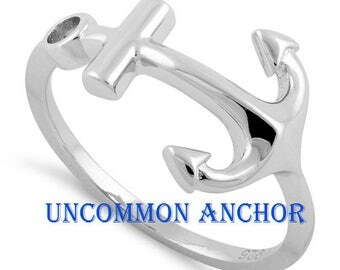 925 Sterling Silver Anchor Ring