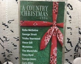 A Country Christmas Cassette Tape 1996 by Various Artists