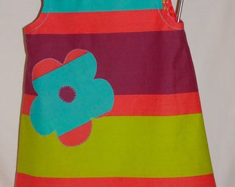 Dress style pinafore, size and application