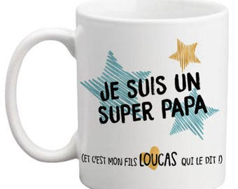 Mug Super Dad personalized front