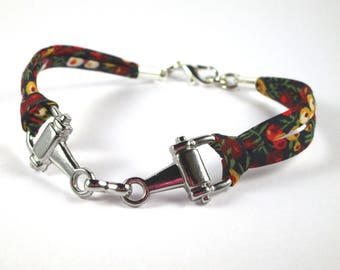 Bracelet riding bit NET liberty Wilmslow berry has