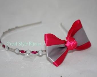 very nice headband with satin ribbon