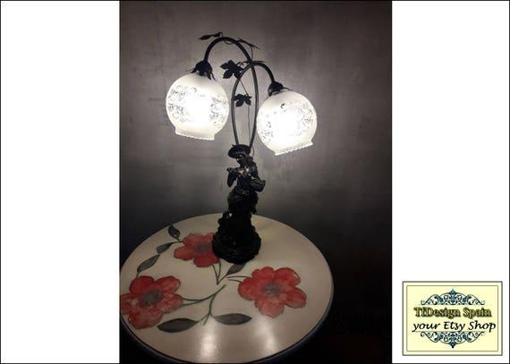 Art Nouveau lamp, Art Nouveau lamp reproductions, Art Nouveau lamp with shades glass, Art Nouveau lamps for sale, Art Nouveau lamp woman