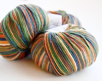 Premium Organic Cotton Yarn, Sport Yarn, Knitting Yarn, Organic & Fairtrade Certified, Debbie Bliss Eco Baby Prints Organic Cotton Yarn