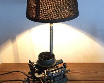 Lamp upcycled deco industrial loft carburetor R5 automobilia