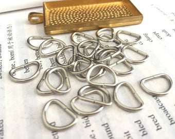wholesale 100 Pieces /Lot silver Plated 13mmx9mm Strong D jump rings