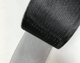 """3"""" inch Polyester Horsehair Braid, Price per Roll/22 Yards Black / White /Ivory"""