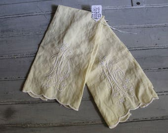 Vintage Yellow His & Hers Hand Towels