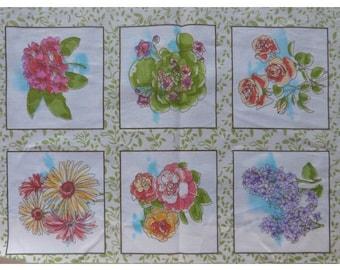 Cotton fabric 6 thumbnails sewing, patchwork, flower decoration