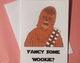 Star Wars Film Wookie Chewbacca Greetings Card   Funny Geeky Rude Humour  Greetings Card   Birthday