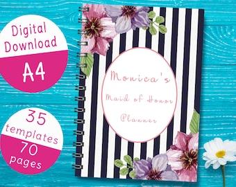 Printable Maid of Honor Planner, Wedding Planner for Maid of Honor, Maid of Honor Organizer Book PDF, Maid of Honor Binder Notebook